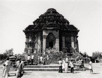 Sun Temple of Konarka, 13th century CE, Orissa, India, designed as Sun God Surya's celestial chariot.