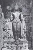 "Sun God Surya, represented in his aspect as Mitra (""the friendly one""), at the Sun Temple of Konarka, India."