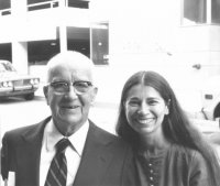 With R. Buckminster Fuller, multi-faceted inventor and pioneering visionary, after our interview in Philadelphia, 1976.