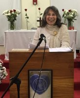 "A light-hearted moment during a talk on ""Life After Death"" at the Christ School for Living, Philadelphia, December 2015."